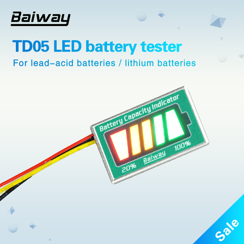 TD05 e-bike battery indicator battery level indicator battery tester for car e-bike