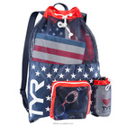 2018New Sports sublimation swimming nylon mesh drawstring bag