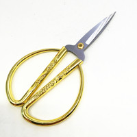 Chinese Style Alloy Handle Household Scissors Home dragon and Phoenix Stainless Steel Scissors