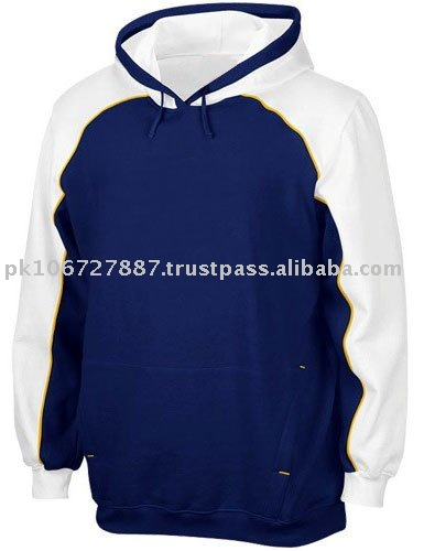 Popular Blue And White Embroidered Fashion Fleece Hoodies