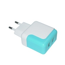 2019 Huaye KC Vermeld Dual Port 5 V 2.1A <span class=keywords><strong>Korea</strong></span> Plug Travel Charger USB Wall Charger