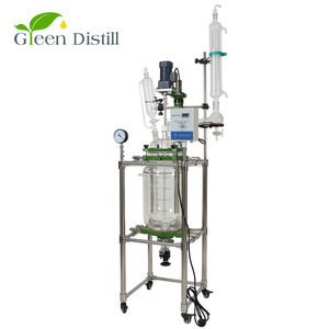 20l fermentor jacketed glass reactor for sale