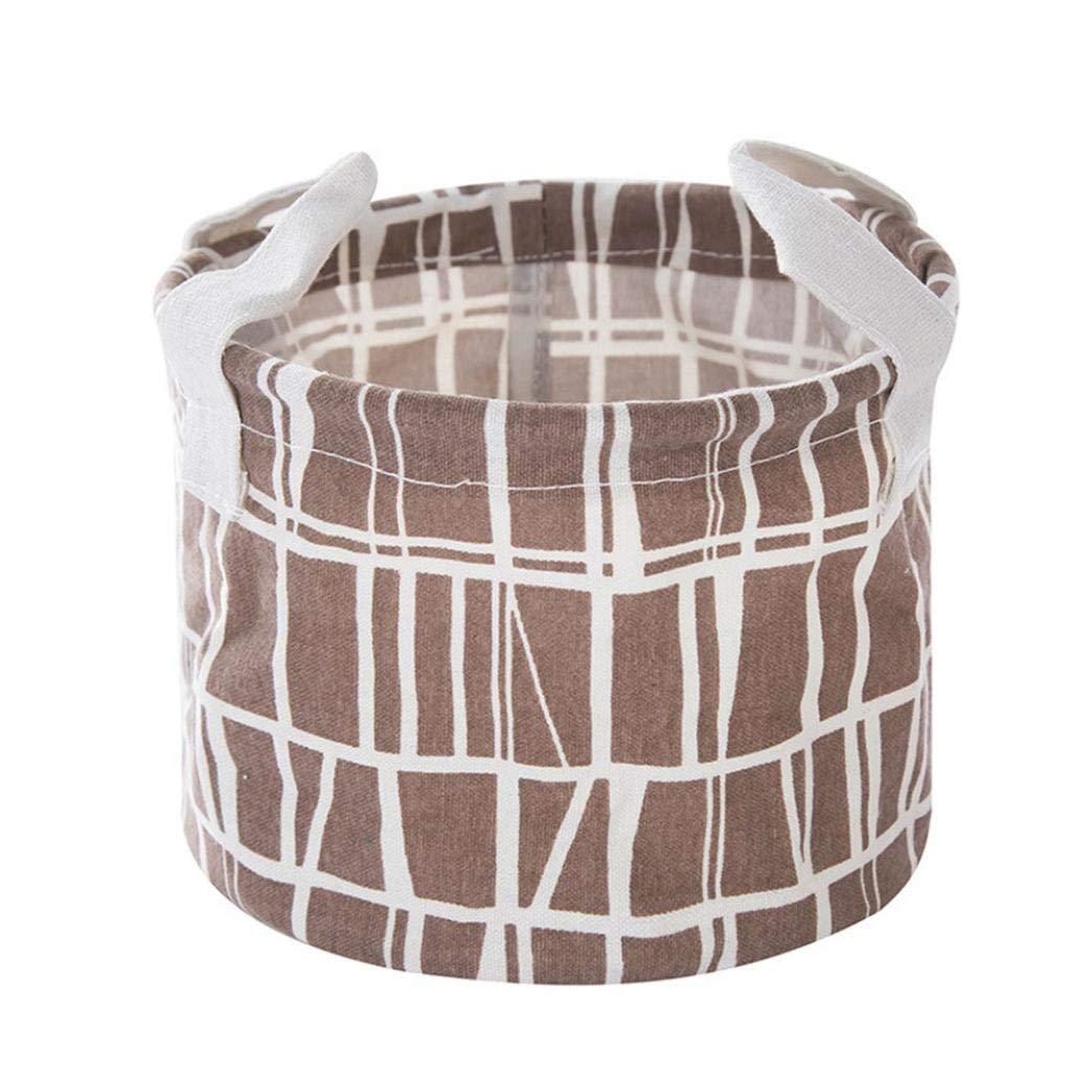 Storage Basket, Yezijin Foldable 6 Colors Storage Bin Closet Toy Box Container Organizer Fabric Basket (B)