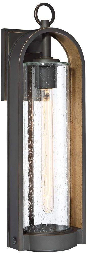 Minka Lavery Outdoor Wall Light 72453-143C Kamstra Exterior Wall Lantern, 1-Light 60 Watts, Oil Rubbed Bronze