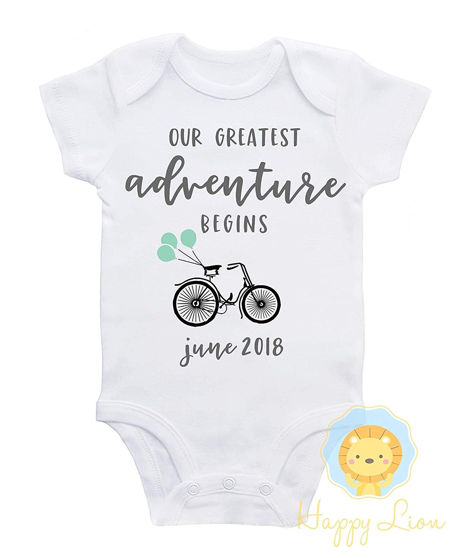 e828ed581048 Baby Banz were originally designed i... Get Quotations · Happy Lion  Clothing - Pregnancy Announcement Onesie®