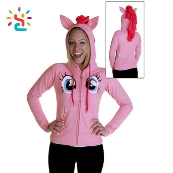 wholesale 3d anime horse hoodie girls cute big eyes custom animal