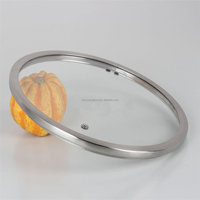 T' type tempered glass cookware lid for pan