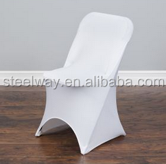 white spandex wedding folding chair cover