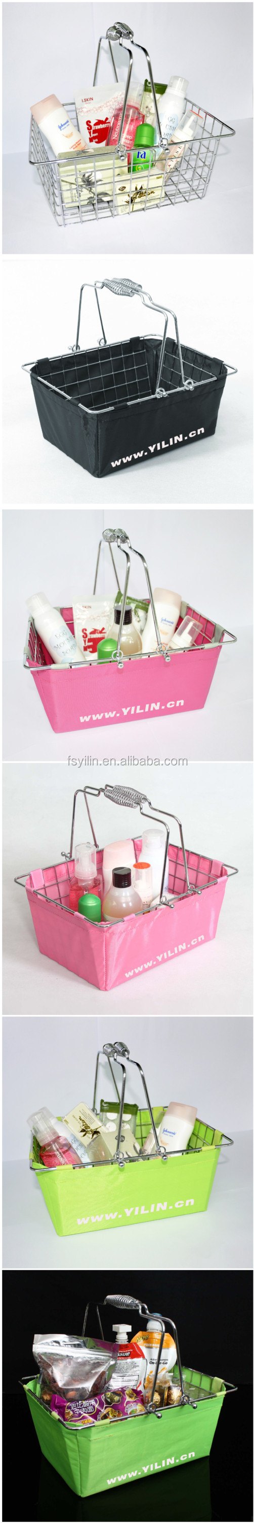 Small cosmetic shopping baskets