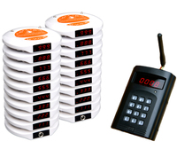 Wireless paging queuing system 1 transmitter 20 coaster pagers