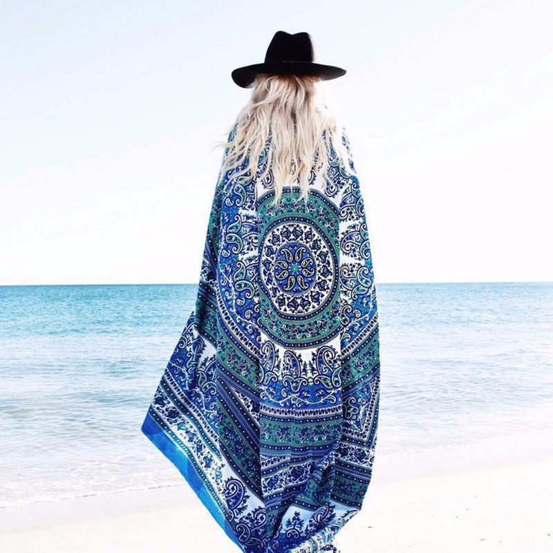 No tassels lightly colorful printing design durable design cheap promotion wholesale microfiber fabric round beach towel