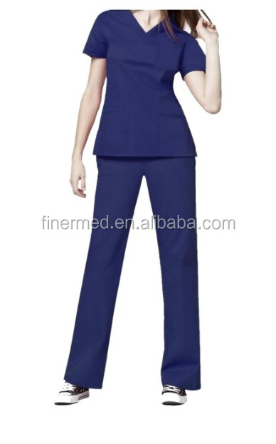 Reusable Washable hospital cotton Medical Scrub with pant