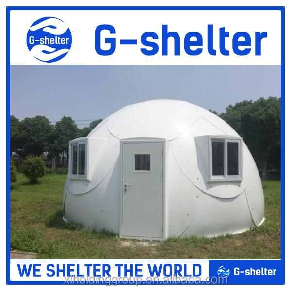 Car Fiberglass Dome Shelter : Rápido montado fibra de vidrio cúpula geodésica