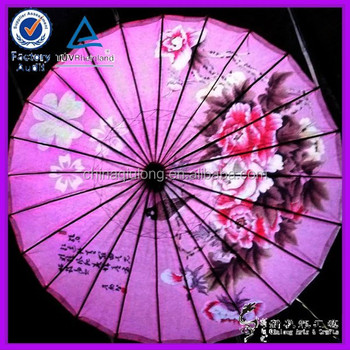 Traditional Folk Art Style Chinese Oil Paper Umbrella Decorations