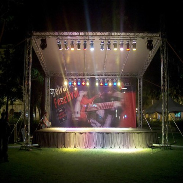 Manufacturing Led Show Square Box Speaker Cheap Spigot Curve Roof Display Truss