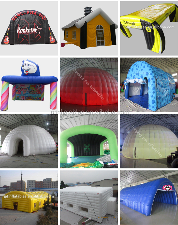 Customized outdoor used air sealed construction structure inflatable tent for special needs