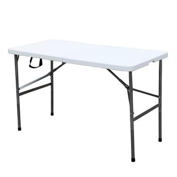 "48"" Outdoor Plastic Folding Camping Table Portable Desk Picnic Party Dinner Table for Garden, Beach, Cookouts"