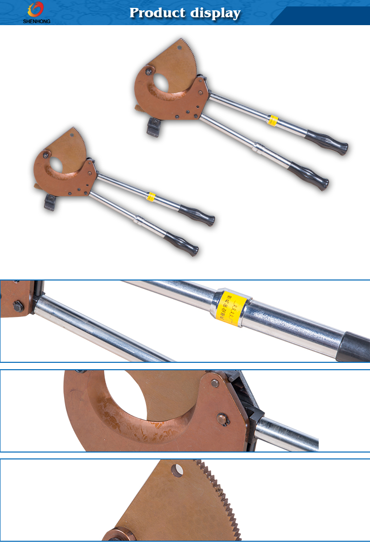 J95 Electric Ratchet Wire Rope Cable Cutter For Single Or Multi ...