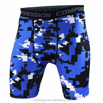 Men fancy sports shorts blue camo tight fit men jogging climbing cycling  riding shorts a1f45390803