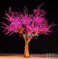 Nature trunk landscaping flower decorative artificial lighted trees