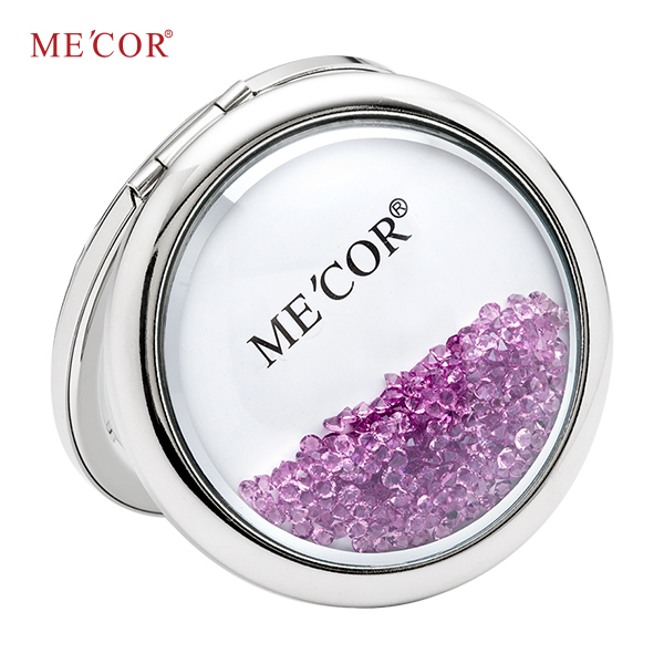 Double sided round daily use compact mirror