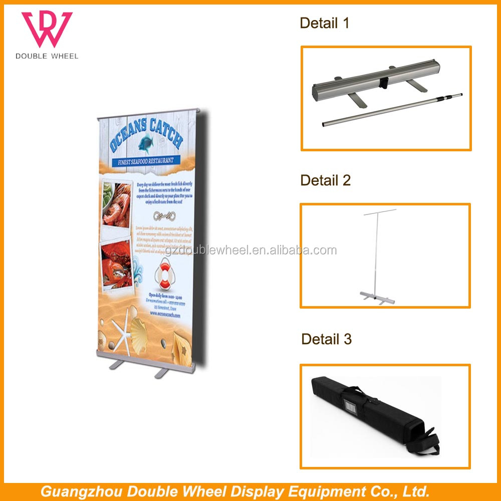 outdoor sail roll up banner stand