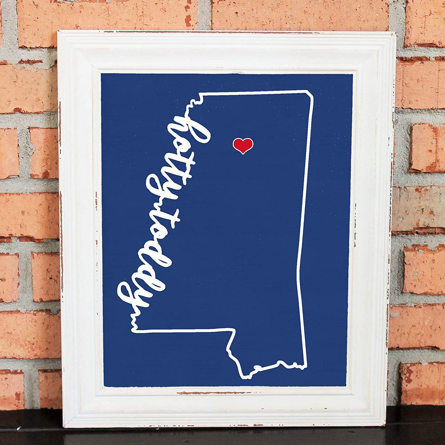 HOTTY TODDY! College Pride Wall Art - Artwork - Ole Miss Rebels - University of Mississippi - Red and Blue - Man Cave Artwork - College Decor - UNFRAMED Poster Print - Chalkboard Finish