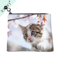 Factory wholesale small makeup bags cosmetic bags cat print basics contents cosmetic bag for travelling