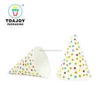 colorful printed food grade paper cone wrapper / cone cup for icecream
