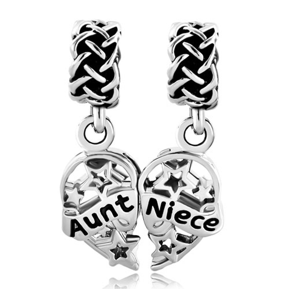 a777910c0 Get Quotations · Charmingjewelry Heart Love Aunt Niece Dangle Celtic Knot  Charm Sale Cheap Beads Fit Pandora Jewelry Bracelet