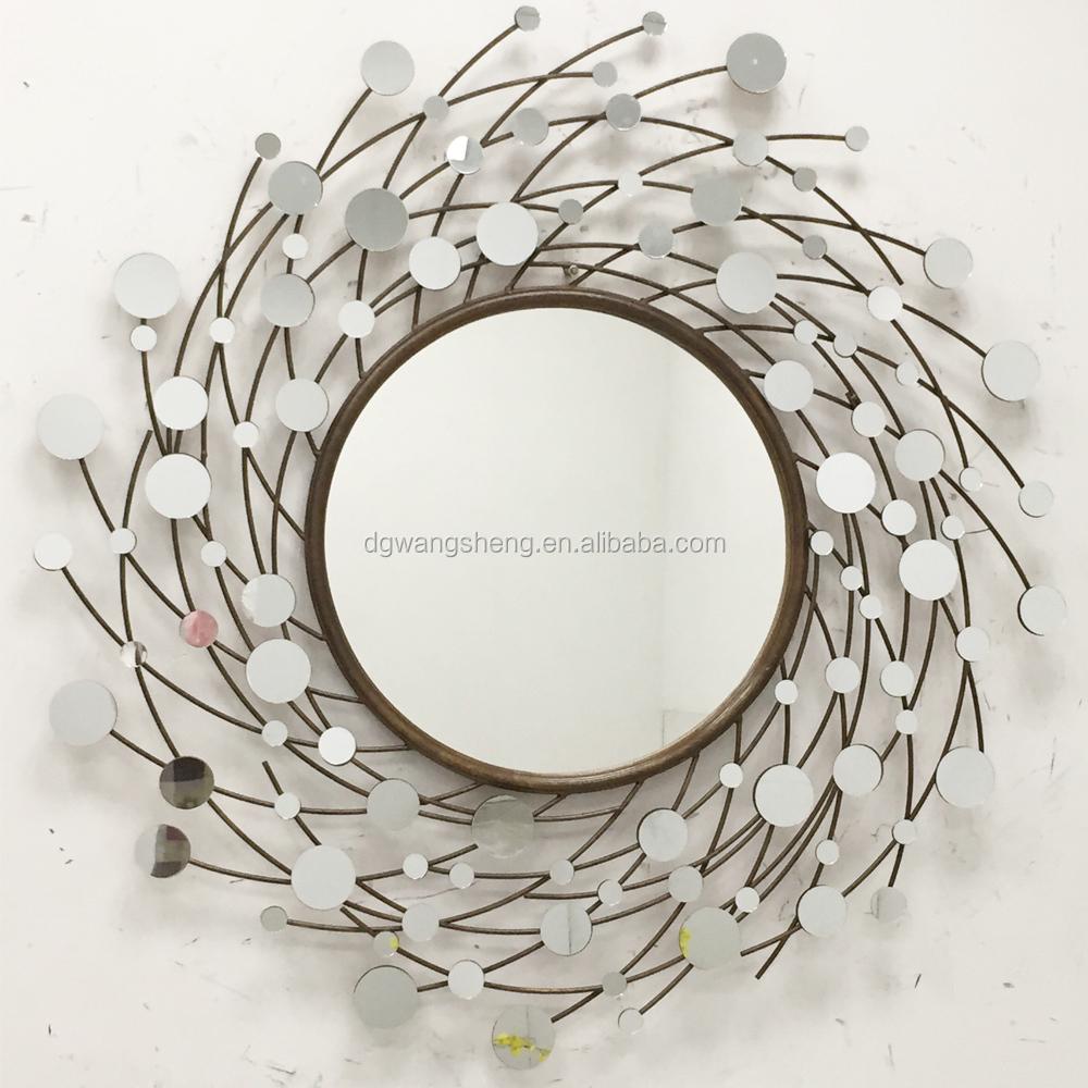 Nuovo design in metallo a forma di sole specchio da parete in ferro battuto con il prezzo di - Specchio a forma di sole ...