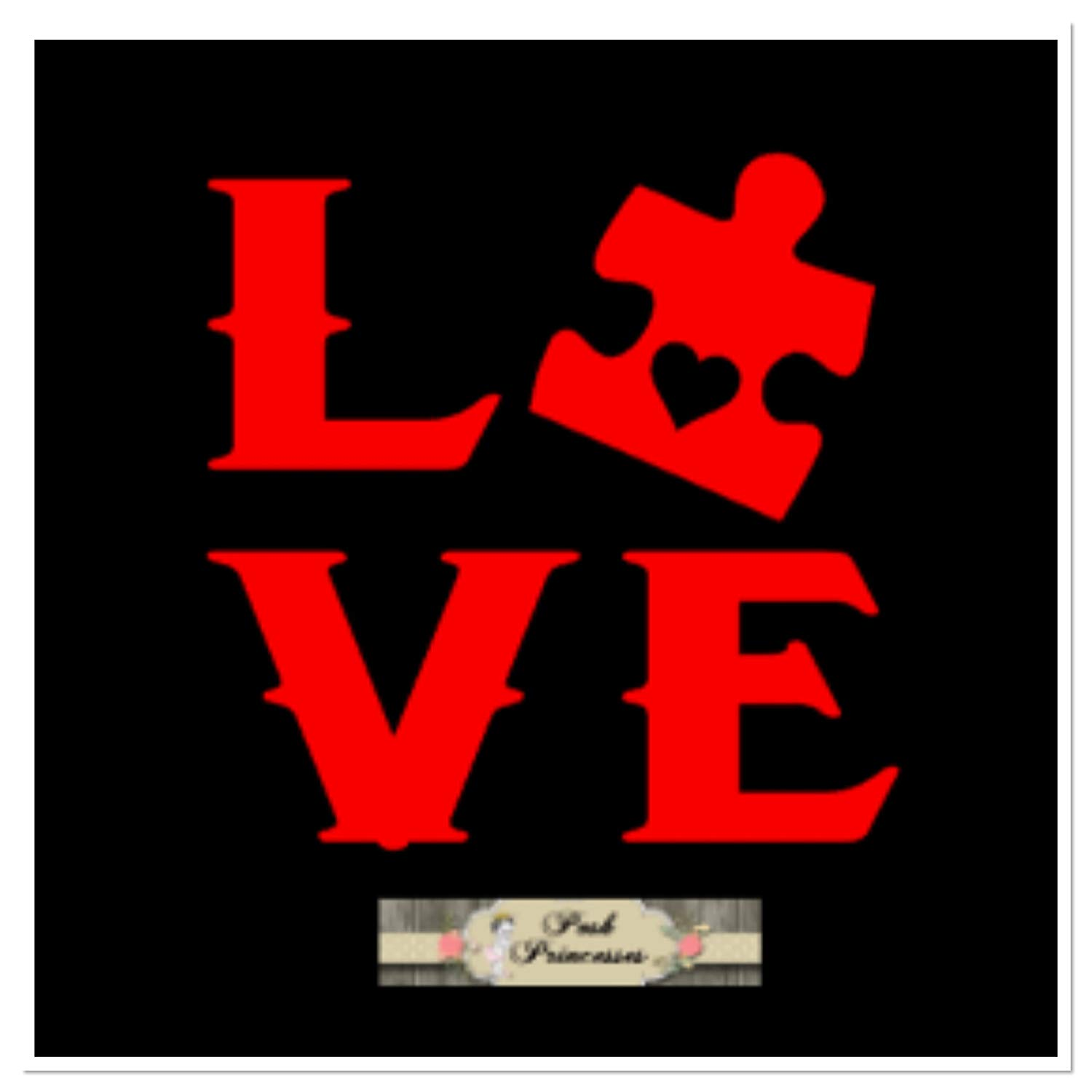 b30aa34a754 Get Quotations · Autism Awareness, Autism Love Puzzle Piece Car Window Decal,  Cup Decal, Laptop Sticker