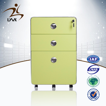 2015 New Design Round Mobile Filing Cabinet Small Green Steel ...