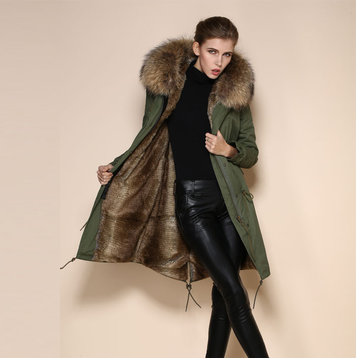 Raccoon Fur Collar Coat Raccoon Fur Collar Coat Suppliers and