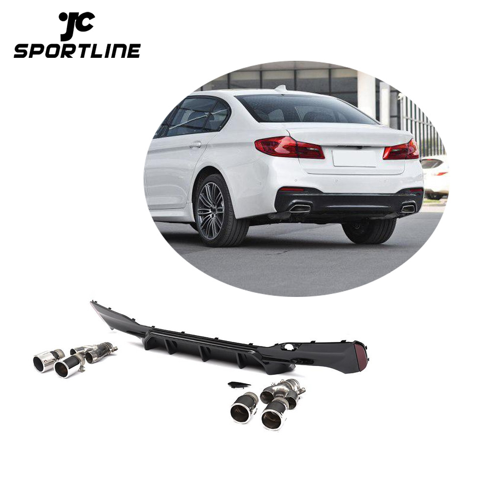 Black Painted M5 Style G30 Rear Diffuser With Exhaust For Bmw G30 G38 Sport  2017-2019 - Buy G30 Rear Diffuser,G38 Rear Diffuser,G30 Rear Diffuser For