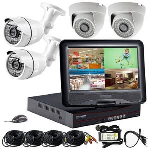 Big Promotion 4chs CCTV Camera System Kit with 10