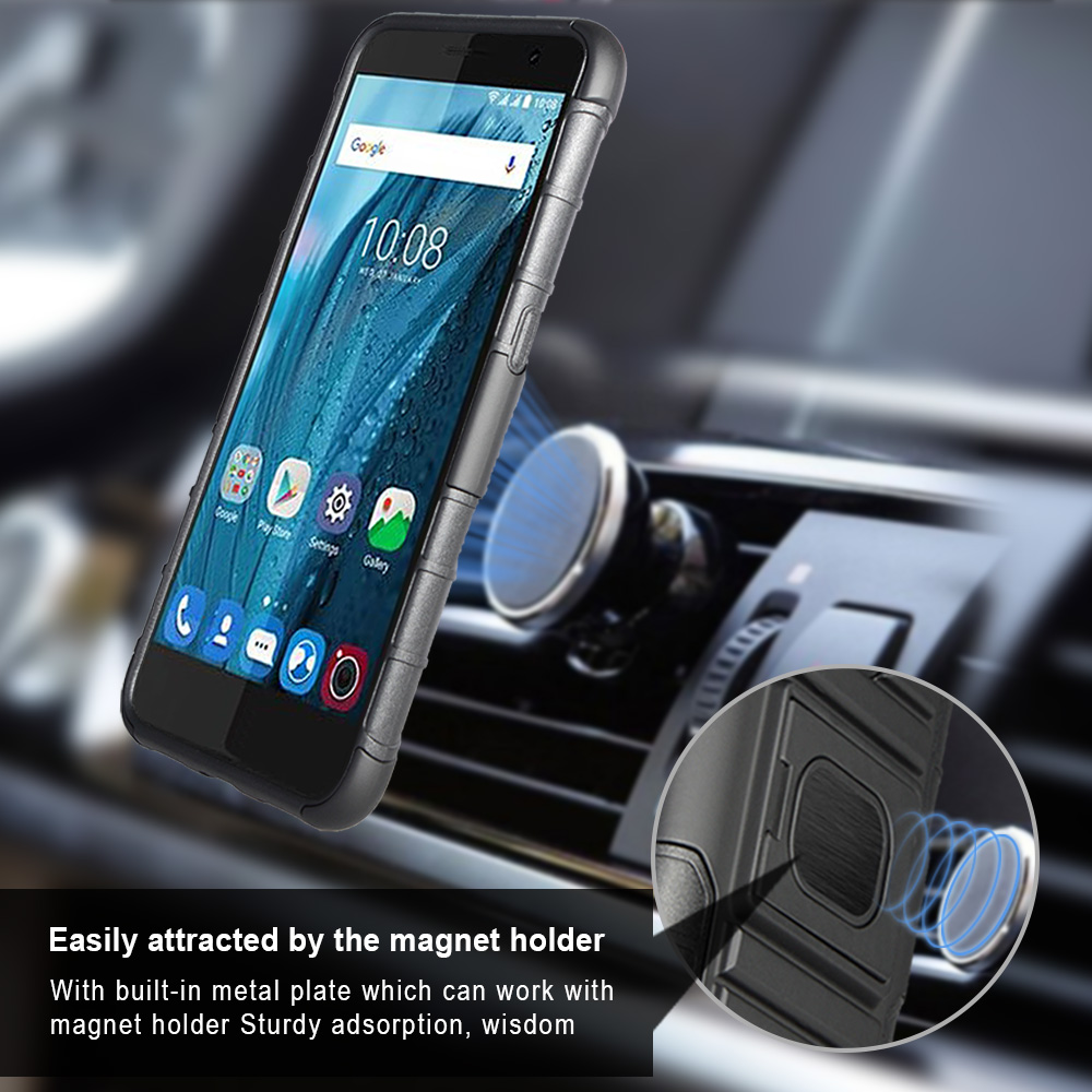 For Zte Blade A520 Strong Case 3 In 1 Holster Combo With Multi Function Lux V830w