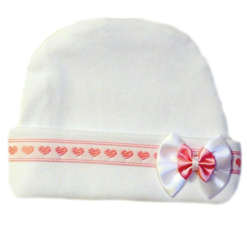 Get Quotations · Jacqui s Baby Girls  Pink Hearts Baby Hat e94c5b63e995