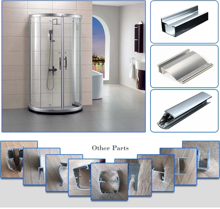 Tempered glass shower Sliding door Aluminum Frame Shower Enclosure