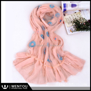 2016 New Fashion Chinese Knot Oversize Shawl Fringe Scarf