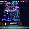 Customize outdoor giant large sparkling LED gift boxes for shopping mall opening