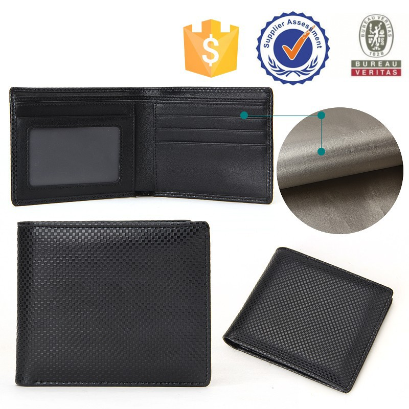 Custom Bifold Men's Slim Wallet Genuine Leather Rfid Wallet Made In Beijing