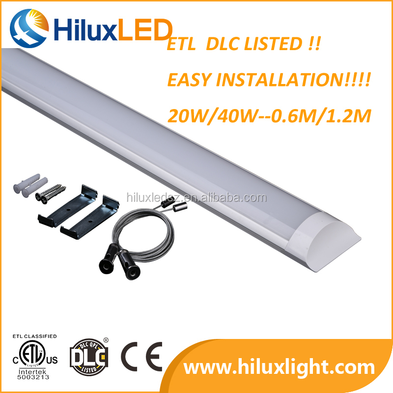 Frosted Cover Slim Wide Flat Led Tube Batten Linear Light 20w,40w ...