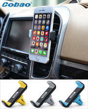 Practical stertchd universal car air vent mount support  for iphone 6 samsung xiaomi meizu mx6 free shipping ABS material