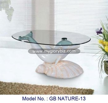 Modern Dolphin Coffee Table Unique Design,Special Glass Center Tea ...
