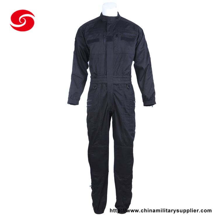 Mens Custom Navy Blue Work Multi Functional Cotton Coveralls
