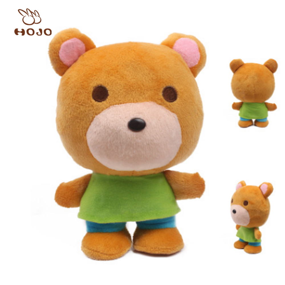 China Manufacturers Wholesale HOT selling plush bear customized stuffed toy stuffed color animal baby toys manufacturer