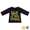 Black Color Fancy Baby Clothes 95 Cotton /5 Elastane T-shirt Long Sleeve Fashion And Popular Designs Baby Girls T-shirt