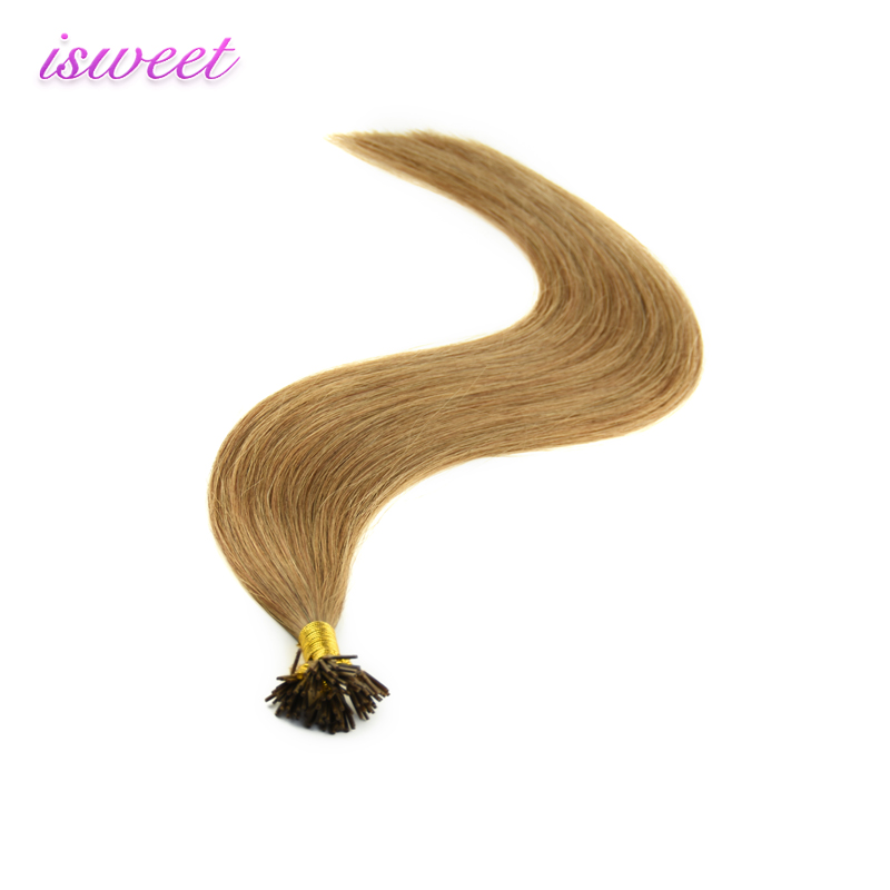 Crazy light brown 2 gram i tip hair extension with strong Italian keratin