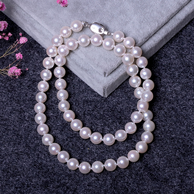(High) 저 (quality Wholesale Price 7-7.5mm White Round 아코 야 Pearl Necklace 와 (High) 저 (Luster